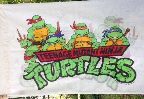 ... pillow case 1990 design printed on both sides Teenage Mutant Ninja