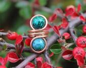 Green Teal Copper Ear Cuff, Tribal Boho Earthy, Ceramic Bead Green Ear Cuff, Nature Inspired, Natural, Ear Cuff Jewelry, Copper Ear Cuff