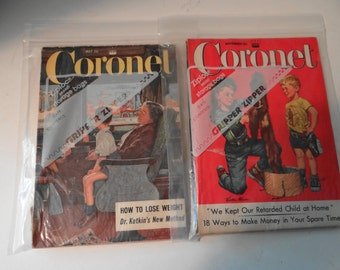 Vintage 1955 Coronet Magazines (Set of 2)