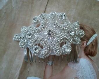 Wedding Hair Comb - Rhinestoen Hair Comb - Style H077