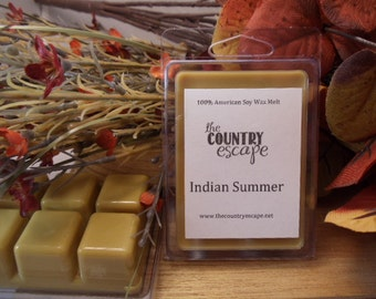 Indian Summer Scented 100% Soy Wax Melt Tart - Complex and Inviting -Triple Scented