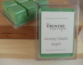 Granny Smith Apple Scented 100% Soy Wax Melt Tart - Crisp and Tart  -Triple Scented