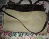 Liz Claiborne Tote Carry On  Lap Top Designer Tan Bag