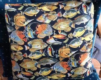 Hand-made Fish throw pillow