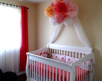 6 Tissue Paper Pom Poms/6 Paper Lanterns ... Baby Shower, Birthday, Wedding, Bridal Shower, Nursery Decor