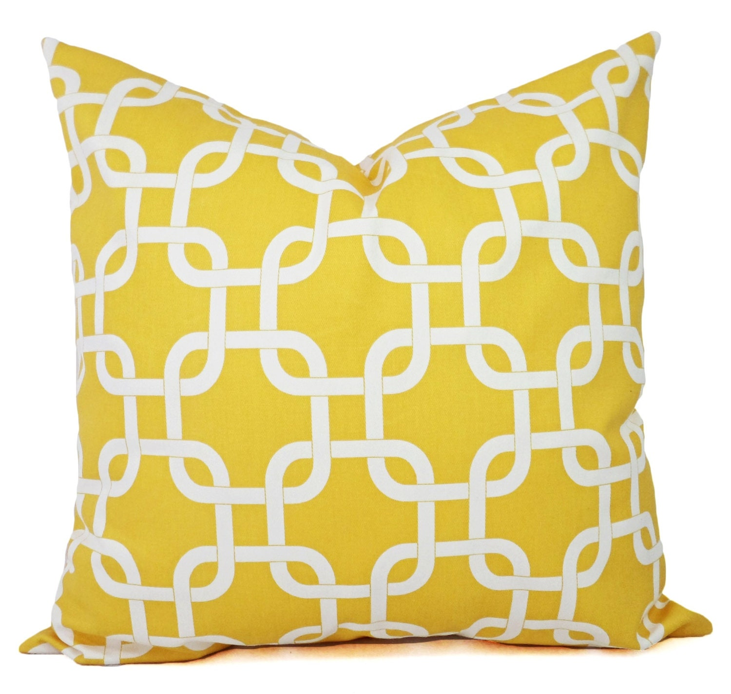 Yellow Decorative Throw Pillow Covers Yellow by CastawayCoveDecor