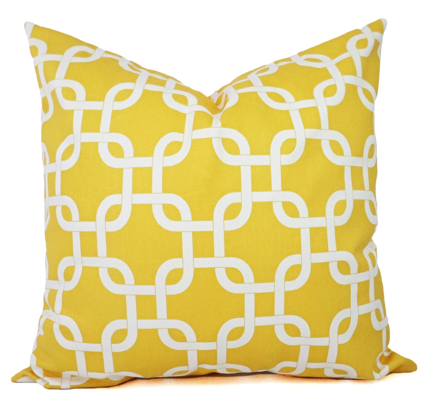 Decorative Pillow Yellow : Yellow Decorative Throw Pillow Covers Yellow by CastawayCoveDecor