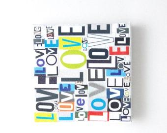 mini LOVE canvas