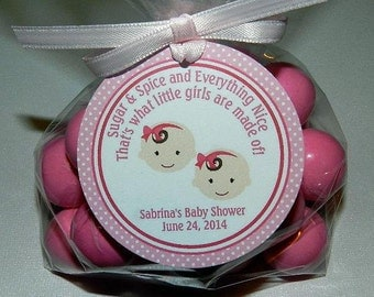 TWINS Baby Shower, Twins Baby Shower Decoration,  Baby Shower Favor Tags