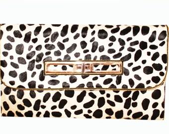 Black & White Cheetah clutch