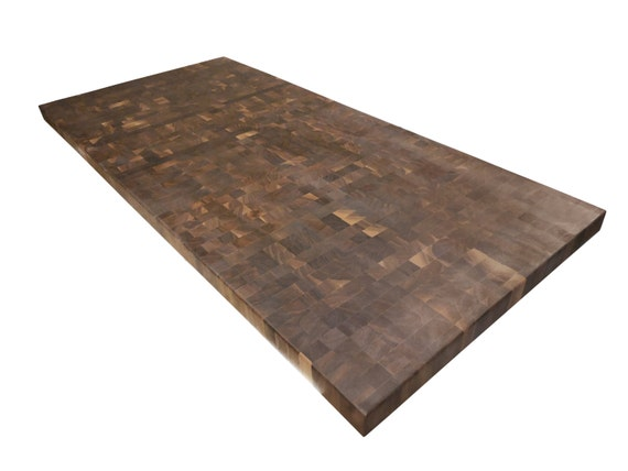 End Grain Butcher Block Kitchen Island : End Grain Walnut Butcher Block Countertop Island Chopping