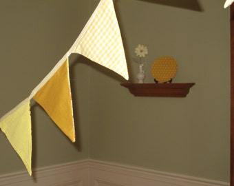 Garland Yellow Bunting pennants for weddings, parties and celebrations