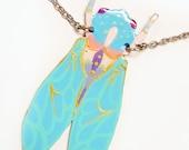 Blue Cicada Statement Necklace