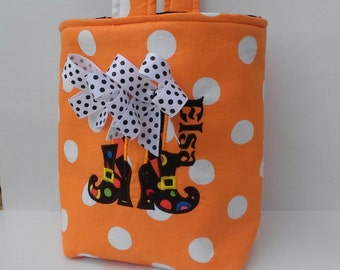 Trick or Treat Halloween Baby /Toddler/Child BOO  Bag, Personalized trick or treat bag, Children's halloween bag