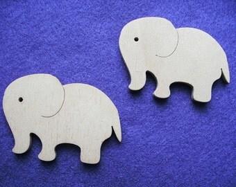2 elephants, wood, 6 x 4,5 cm (10-0011A)