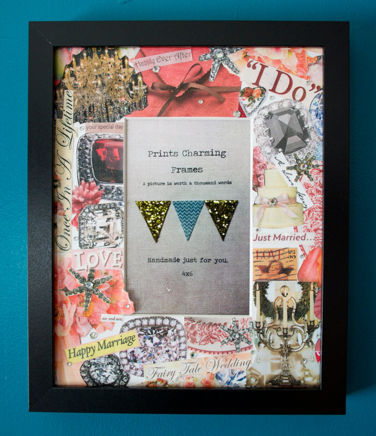 Fairy Tale Wedding Collage Picture Frame By PrintsCharmingFrames