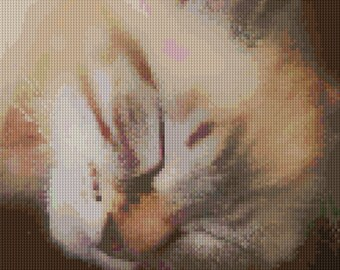 Sleepy Kitty - Cross Stitch Pattern