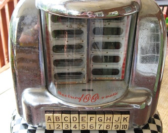 Vintage 50's-60's Seeburg Wall-O-Matic 100 Diner Jukebox