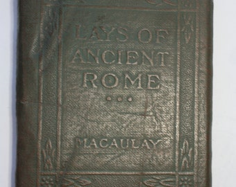 "1920s Little Leather Library poetry book - ""Lays of Rome"""