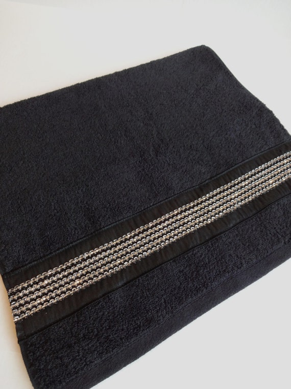 Pick Your Size Bling Towels Black Towels Bling By Augustave