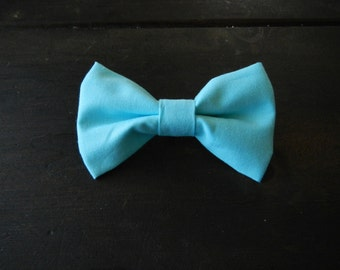 Baby Boy Toddler clip-on bow tie Powder Blue