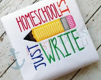 JUST WRITE HOMESCHOOL