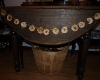 Dried Apple Slice Garland 6' - Primitive, Farmhouse Or Christmas Decorating