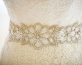 Wedding Crystal Beaded Satin Sash, Bridal Belt, Bridal Headpiece, Austrian Crystals, Swarovski, Rhinestone, Jewel Sash - Vo Belt