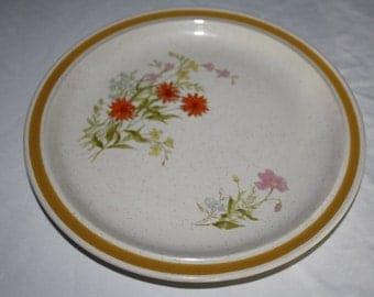 Vintage Wild Flowers Salad PLATE Charmcraft Stoneware Japan