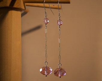 For the Lovely Long-Necked Ballerina in Pink Earrings