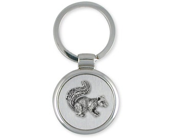 Silver Squirrel Keyring Jewelry -  SQ1-K