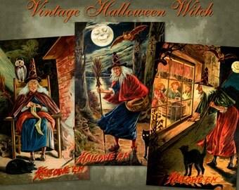 Vintage Halloween Witch - Digital Download