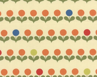 SALE Avant Garden Mod Blooms in Creamsicle by Momo for Moda Fabrics