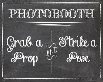 Chalkboard Photobooth Sign Printable