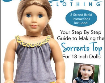 Pixie Faire Liberty Jane Sorrento Top Doll Clothes Pattern for 18 inch American Girl Dolls - PDF