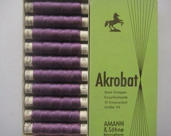 AMANN Akrobat 30/3 10m - Pure Silk Thread - Colour  575 - 10 spools