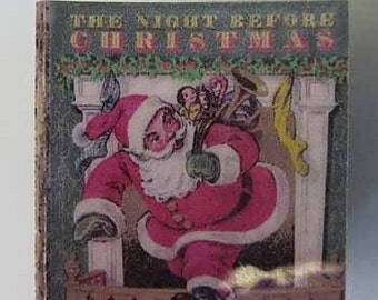 Children's Book The Night Before Christmas - dollhouse miniature 1:12 scale