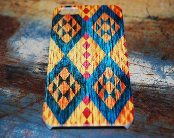 Tribal Print Case For iPhone 6 / (4.7) / 5c / 4.7 / 5s / 5 / 4s / 4 Plastic Rigid Pattern Cover Aztec Tribal Print Cases Printed In USA c16