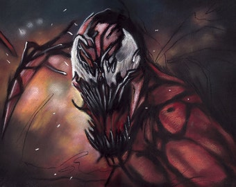 """carnage painting, poster, print, comics, painting, reproduction, artwork,16""""x20"""",22.4""""x28"""""""