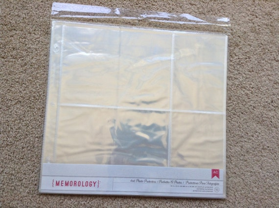 New for scrapbooking 4x6 photo sleeve protectors fit for American crafts page protectors 8x8