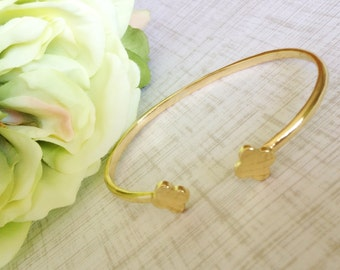 Gold Clover Adjustable Cuff