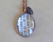 Private Listing for Samantha Parham - Extract Prayer for Owen Meany Pendant