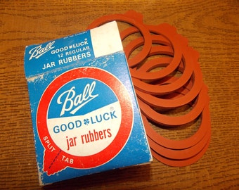Ball Good Luck Jar Rubbers Split Tab   12 count