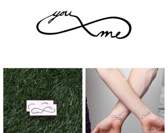 Infinity - You & Me - Temporary Tattoo (Set of 2)