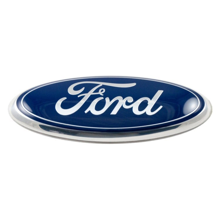 Classic Ford Emblems Decals : Ford emblem classic blue and chrome fits f