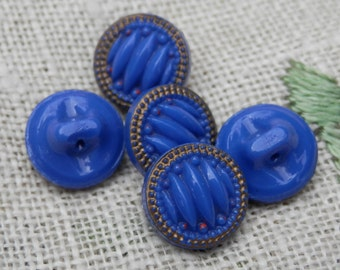 SALE! SET  Brilliant Blue Vintage Buttons