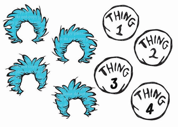 Simplicity image within thing 1 and thing 2 printable