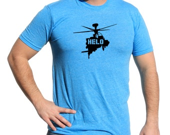 Air Force Military   Shirt With Helo   Army Tactical Triblend Soft Vinyl Tshirt   Helicopter Military Shirt   MILITARY HELICOPTER TSHIRT m07