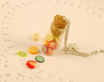 fruit  jar necklace - food jewelry
