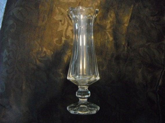 """Crystal Bud Vase! 8"""" Tall!"""